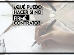 no firme contrato